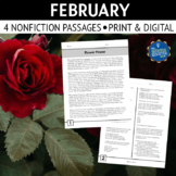 Valentine's and Presidents' Day Reading Passages