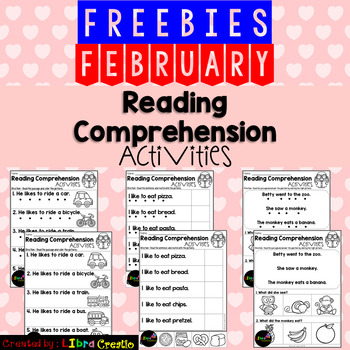 February Reading Comprehension Activities Freebies