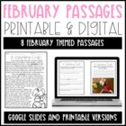 Leveled Text: February Reading Passages