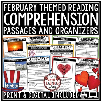 February Reading Comprehension Passages 4th Grade, 3rd Grade & 5th Grade