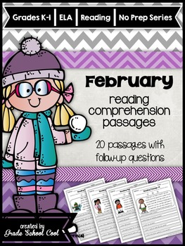 February Reading Comprehension Passages: K-2