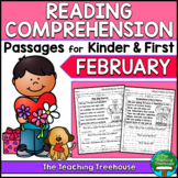 February Reading Comprehension Passages for Kindergarten and First Grade
