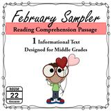 February Reading Comprehension Sampler
