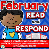 February Reading Comprehension & Written Response