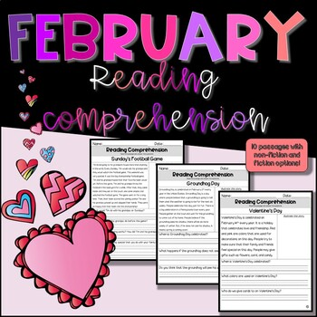 February Reading Comprehension with Questions