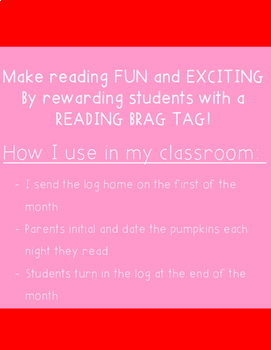 February Reading Log & Brag Tags