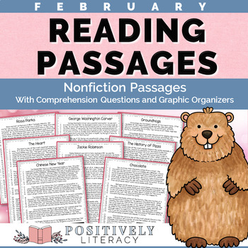 February Reading Passages - Nonfiction Text with Comprehension Activities