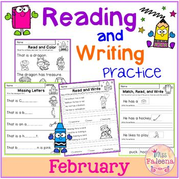 February Reading and Writing Practice
