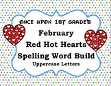 February Valentine's Word Work Spelling Word Build Alphabe