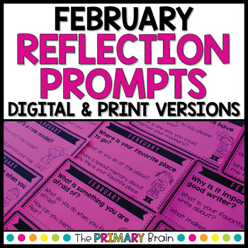 February Reflection Prompt Cards