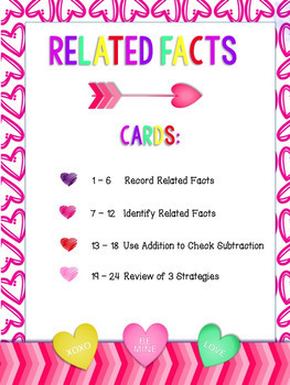 Related Facts Scoot - February Theme - Correlates with GoMath! 5.2, 5.3, and 5.4