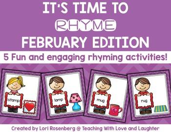 February Rhyming Activities