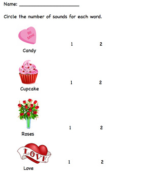 Valentine's Day ~ Rhythm of Words K-2