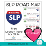February Road Map: Free Speech Therapy Lesson Plans