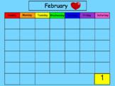 February SMART Board Calendar Math for Kindergarten