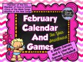February SMARTboard Calendar and Games!