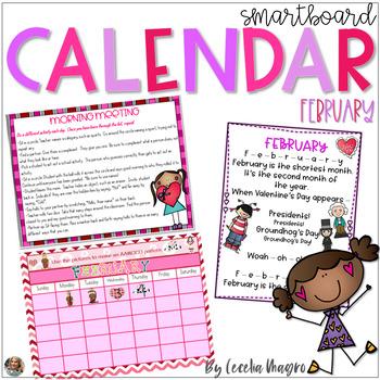 February SMARTBoard Calendar **Common Core Aligned**
