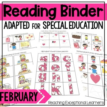 February SPED Reading Adapted Binder