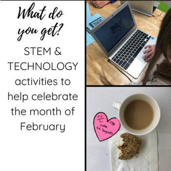 February STEM Activities | Valentines Day STEM Activities | Bundle