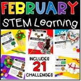 February STEM Activities Valentines Groundhog Presidents T