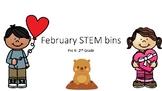February STEM Stations (Valentine's Day, President's Day, Groundhog Day)