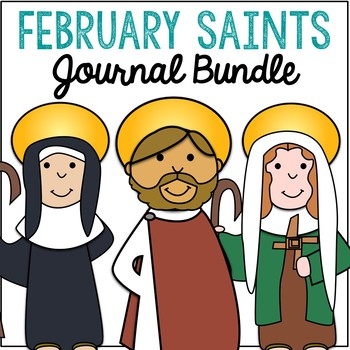 February Saints BUNDLE of Notebook Journal Projects, Catholic Resources