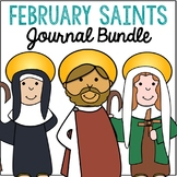 February Saints BUNDLE of Notebook Journal Projects, Catho