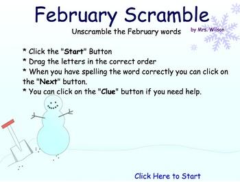 February Scramble