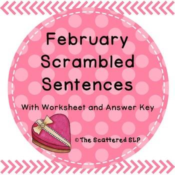 February Scrambled Sentences - A Syntax Activity
