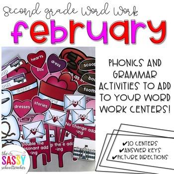 February Second Grade Literacy Centers