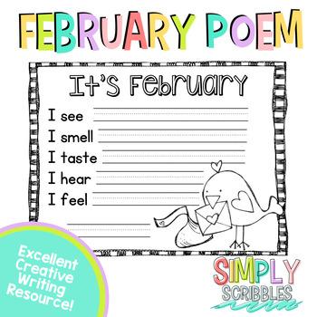 February Sensory Poem