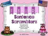 February Sentence Scramblers
