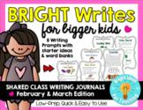 Bright Writes For Bigger Kids Journal Prompts {Feb./Mar.}