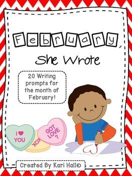 February, She Wrote! My February Writing Journal {20 Prompts}