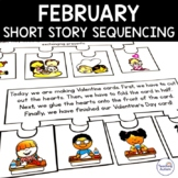 February Short Story Sequencing Jigsaws