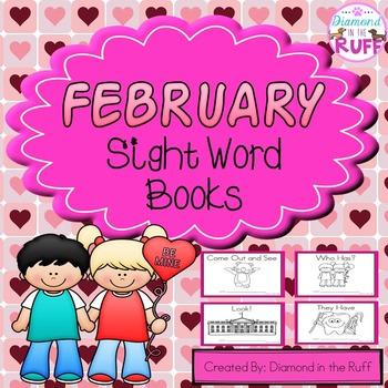 February Sight Word Books