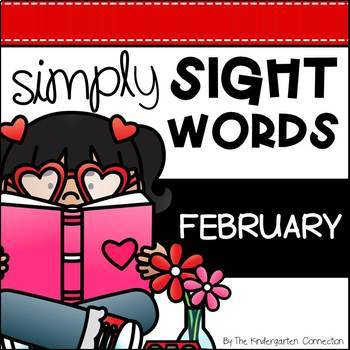 February Sight Word Games and Centers - Editable
