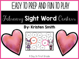 February Sight Word Centers For Kindergarteners