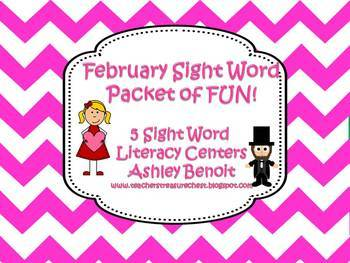 February Sight Word Literacy Fun Mini Packet
