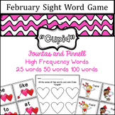 February Sight Word game - Fountas and Pinnell High Frequency Word