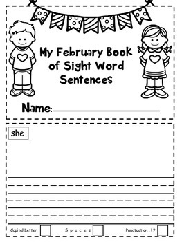 Sight Word Sentences (Reading Street) For February