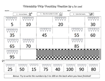February Skip Counting Practice