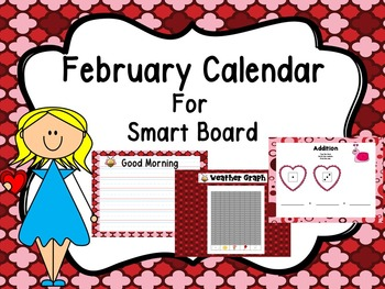 February Smart Board Calendar