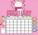 Smartboard Calendar February