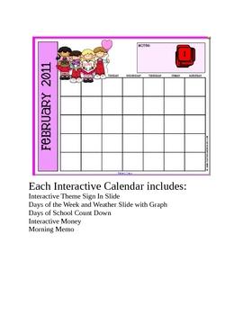 February Smartboard Calendar