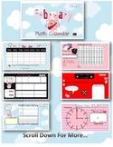 1st Grade February Valentine SMARTBoard Common Core Calendar Math