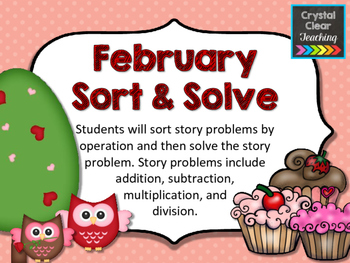 February Sort and Solve Word Problems