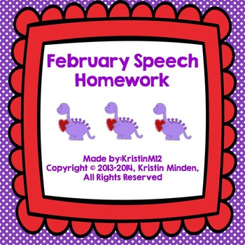 February Speech Homework