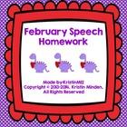 February Speech Homework
