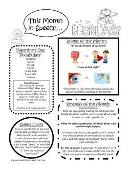 February Speech Newsletter